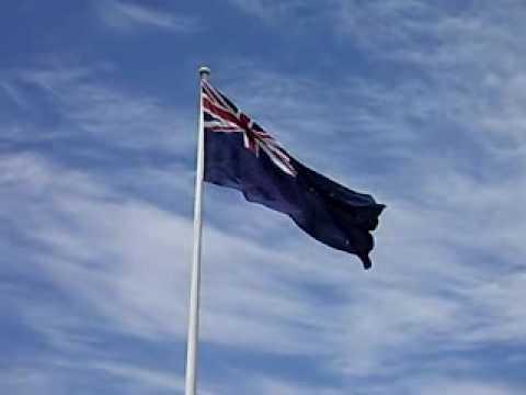 New Zealand flag flying proudly