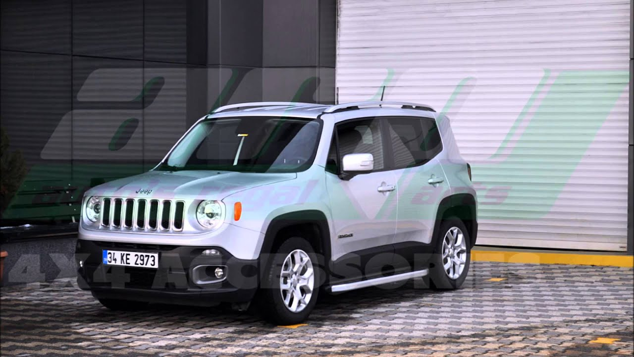 Lifted Jeep Renegade >> JEEP RENEGADE NS SIDE STEPS RUNNING BOARD - YouTube
