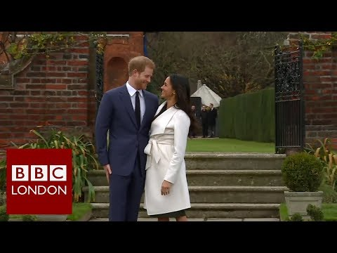 Reaction to the engagement of Prince Harry and Megan Markle BBC London News