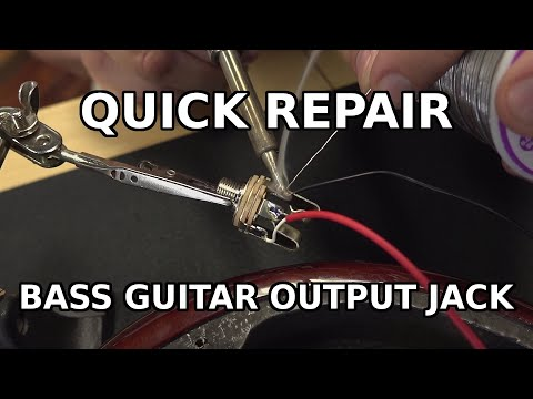 Replacing A Guitar Bass Output Jack With Active Pickups Youtube