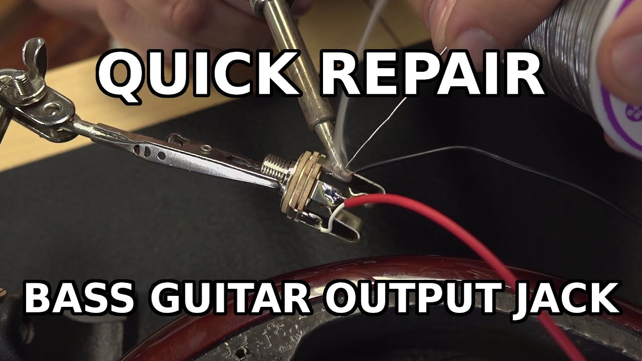 replacing a guitar bass output jack (with active pickups) youtubereplacing a guitar bass output jack (with active pickups)