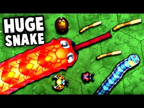 GIANT Snake Best Tactic!  MOST FUN GAME! (Little Big Snake Gameplay - Next Slither.io Io Game)