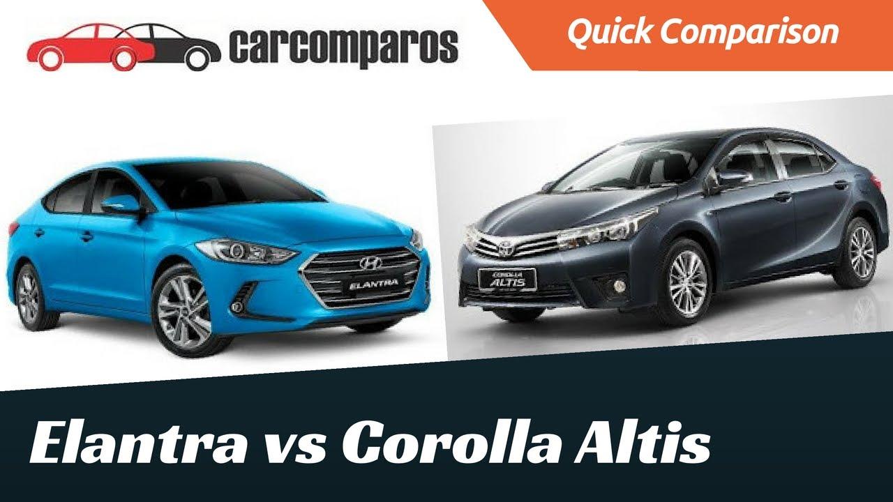 new corolla altis vs elantra toyota all kijang innova 2.4 a/t diesel comparison youtube