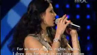 Haifa Wehbe with David Vendetta ~ she sings & speaks English
