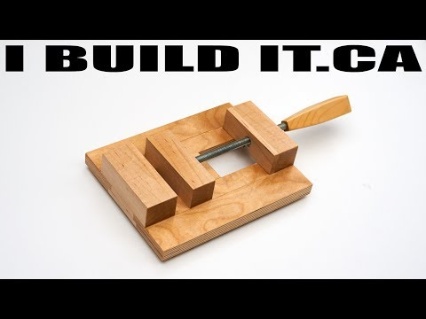 How to Make a Drill Press Vise - Wooden Vise