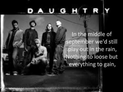 September - Daughtry (Lyrics)