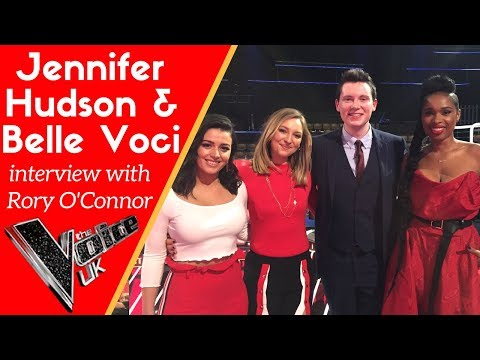 Jennifer Hudson and Belle Voci interview with Rory O'Connor at The Voice UK 2018 final