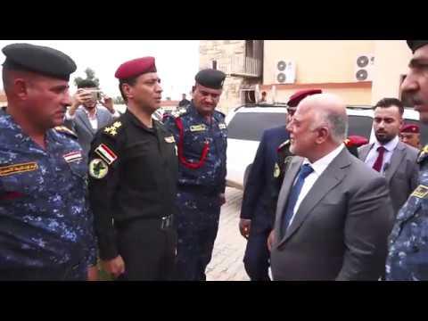 الدكتور حيدر العبادي يزور قيادة العمليات الخاصة الثانية في محافظة كركوك.