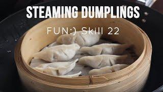 Steaming Dumplings using Bamboo Baskets [Skill 022]