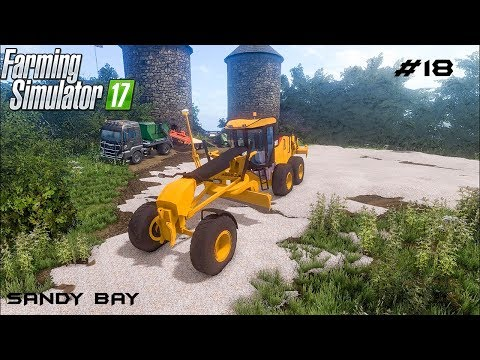 Building road and parking | Sandy Bay 17 | Farming Simulator 2017 | Episode 18