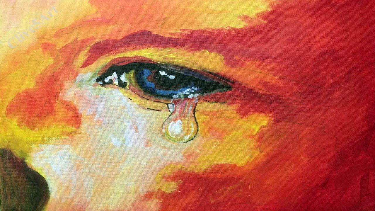 Beginner Learn To Paint Realistic Eye In Acrylic Youtube