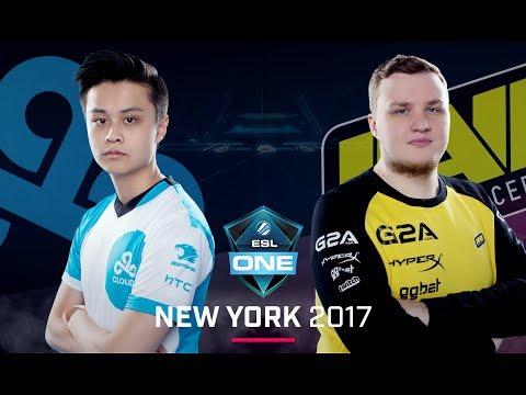 CS:GO - Cloud9 vs. Na'Vi [Mirage] Map 1 - Group A Decider - ESL One New York 2017