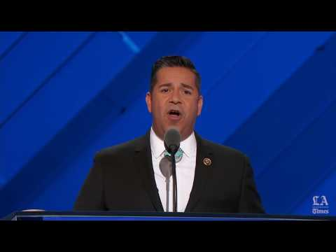 Rep. Ben Ray Luján of New Mexico speaks at the Democratic National Convention