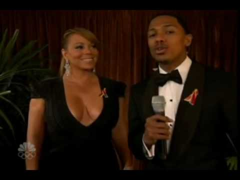Nick Cannon Interviews Mariah Carey at the Golden Globe Awards 2010