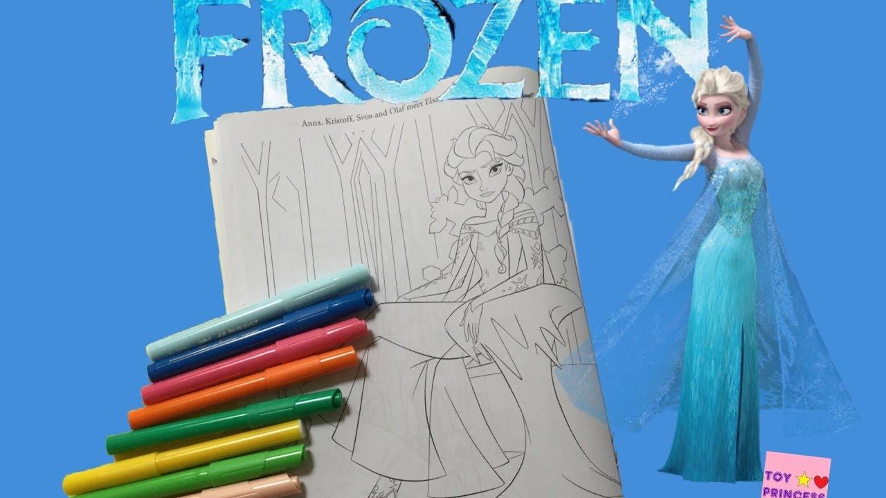 Disney FROZEN Magical Coloring Book Lets Color Queen Elsa