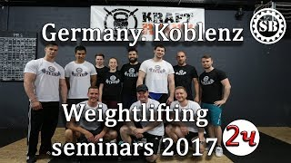 Germany.Koblenz seminars 2017.Part2/S.BONDARENKO(Weightlifting & CrossFit)