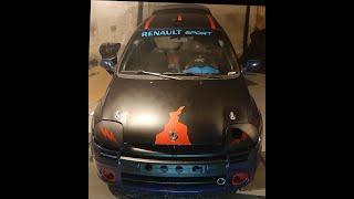 la Renault Clio 2 RS1 de Pandemonium Lig rencontré au pôle mécanique d'ales !!