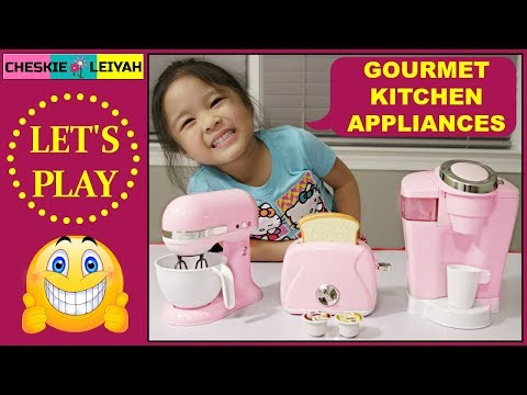 gourmet-kitchen-appliances,-toy-unboxing,-pretend-play,-fun-toys-and-games