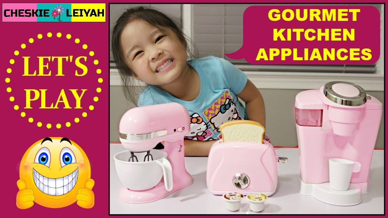 Gourmet Kitchen Appliances Toy Unboxing Pretend Play Fun Toys And
