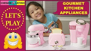 GOURMET KITCHEN APPLIANCES, TOY UNBOXING, PRETEND PLAY, FUN TOYS AND GAMES