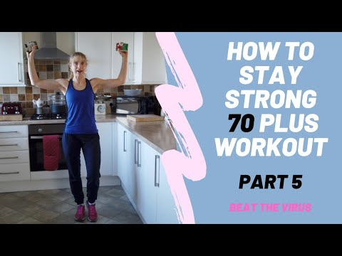 10 minute Upper Body Strength Home Workout for age 70 plus. Part 5. Beat the virus!