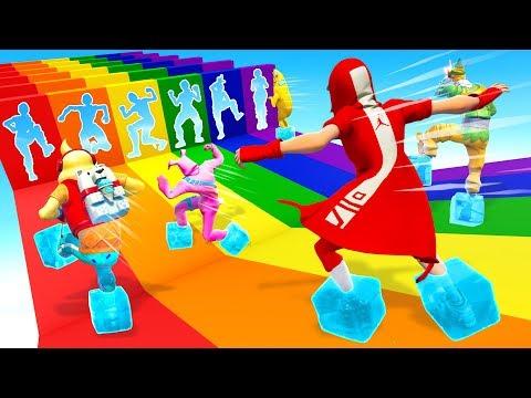 I Made the ULTIMATE Rainbow Slide Deathrun...