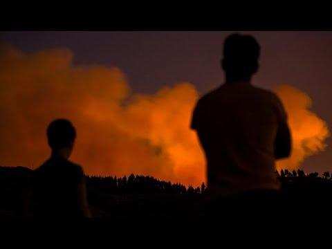Incêndio da Gran Canária segue sem controlo
