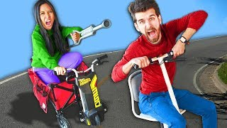 DIY Fastest Car Built from Junk Wins Challenge! Boys vs Girls Battle Royale 2 Reveals Hacker Secrets