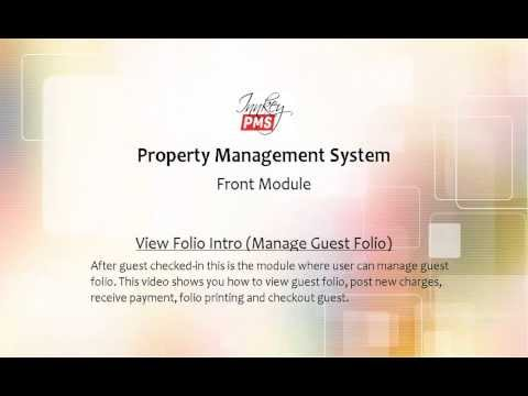 InnkeyPMS   Introduction to module 'View Folio'