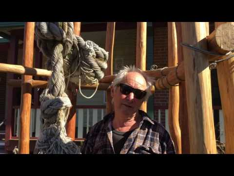 Rick Reynolds talks about 'The shrine of the knot' sculpture