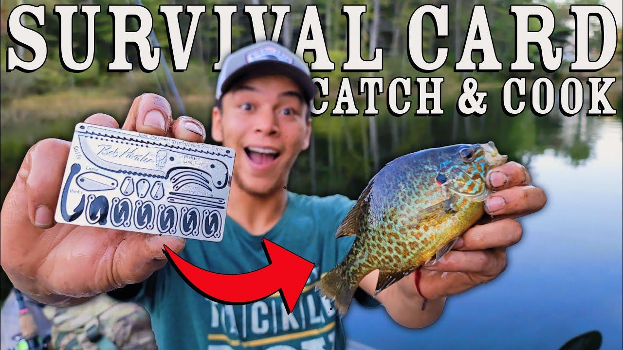 Survival Card Catch & Cook Challenge!   Bob Hansler's Signature Grim Workshop Hook Set