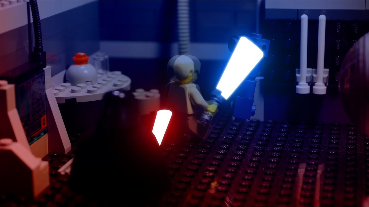 LEGO Luke fights Darth Vader on Bespin  YouTube