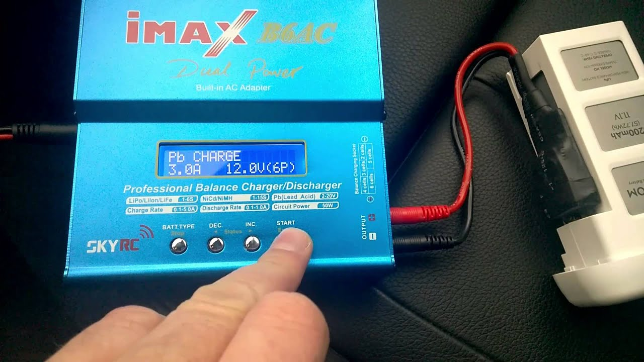 Charge DJI Phantom 2 battery in car using LiPo charger and custom ...