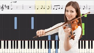 Learn how to play barcarolle - jacques offenbach violin and piano tutorial with sheet music