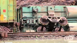 4-19-15 Abbeville, AL Train Cars Tornado Damage *Rick Lipscomb*