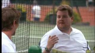 James Corden And Peter Crouch Plays Tennis