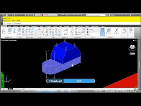 AutoCAD 3D Tutorial | Grip Editing Solid Models