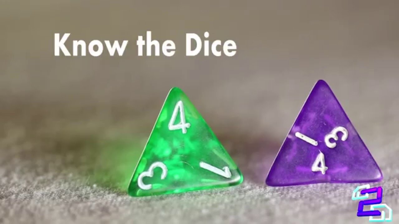 D4 Dice Tutorial Know The Dice Youtube