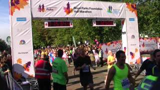 On the finishing line: my first 22km race @ London