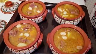 Чанахи в горшочках из мяса дикого кабана