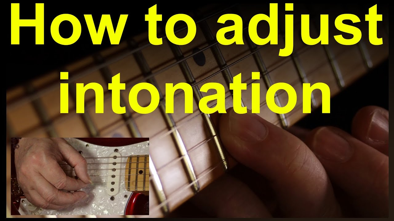 guitar intonation how to setup or adjust the intonation on any electric guitar youtube. Black Bedroom Furniture Sets. Home Design Ideas