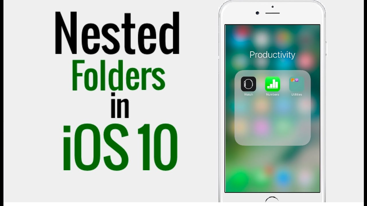 How to Put Folder in a Folder - Nested Folders in iOS 10