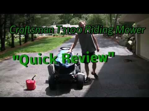 Sears Craftsman T Riding Lawn Mower Review