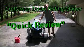 "Sears Craftsman T3100 Riding Lawn Mower ""Review"""