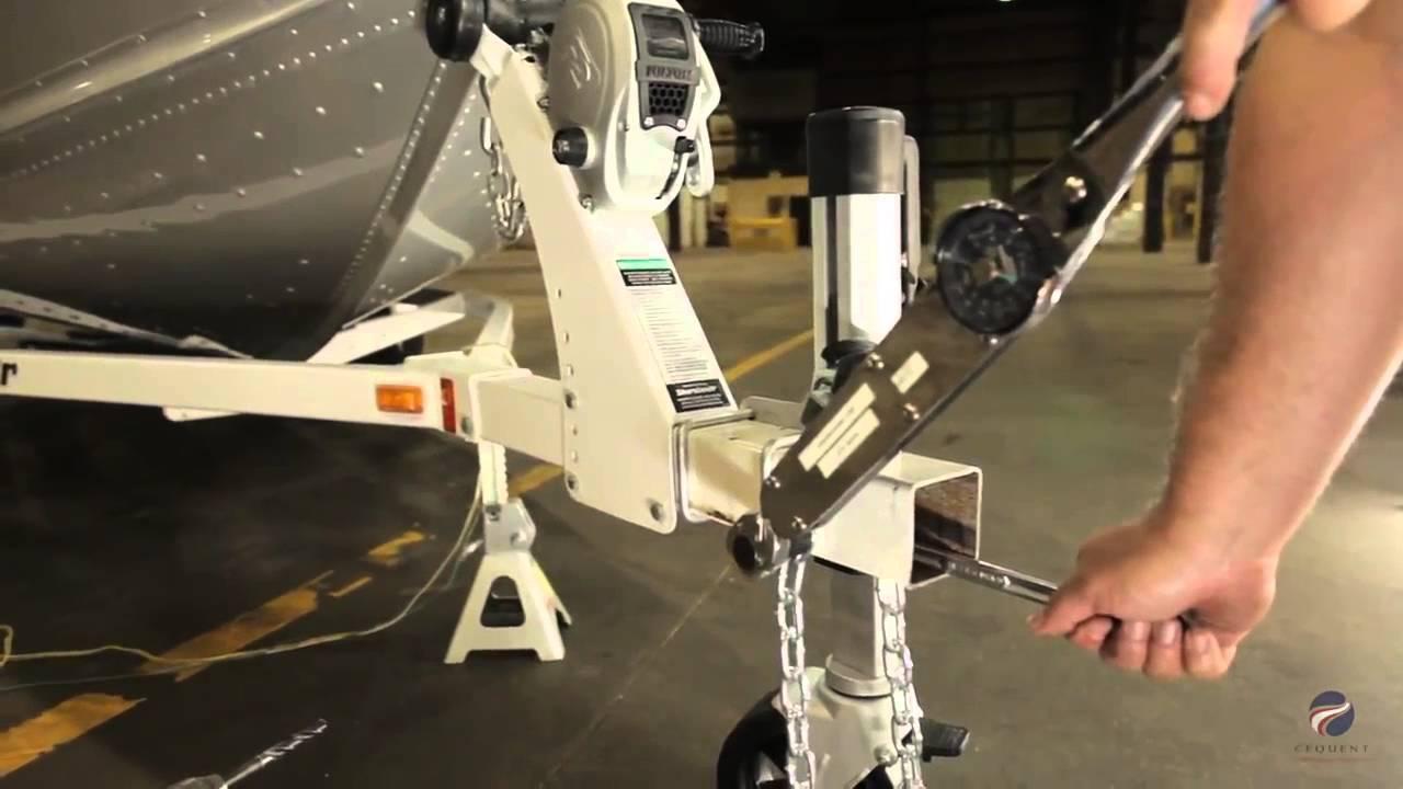 Installing A Fulton 174 Fold Away Bolt On Hinge Kit Youtube
