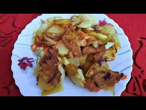 Жареная картошка особым способом. С маленьким секретом.