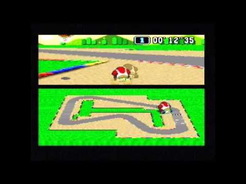 Super Mario Kart Time Trial PAL Mario Circuit 1 World Record 0'57