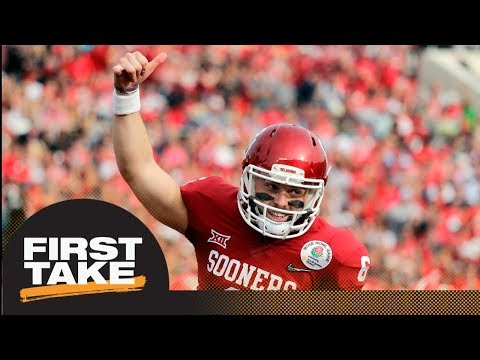 First Take Reacts To Browns Drafting Baker Mayfield With No. 1 Overall Pick | First Take | ESPN