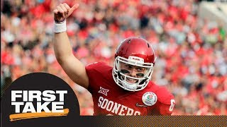 First Take reacts to Browns drafting Baker Mayfield with No. 1 overall pick   First Take   ESPN