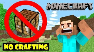 BEATING MINECRAFT WITHOUT CRAFTING ANYTHING CHALLENGE ! AYUSH MORE